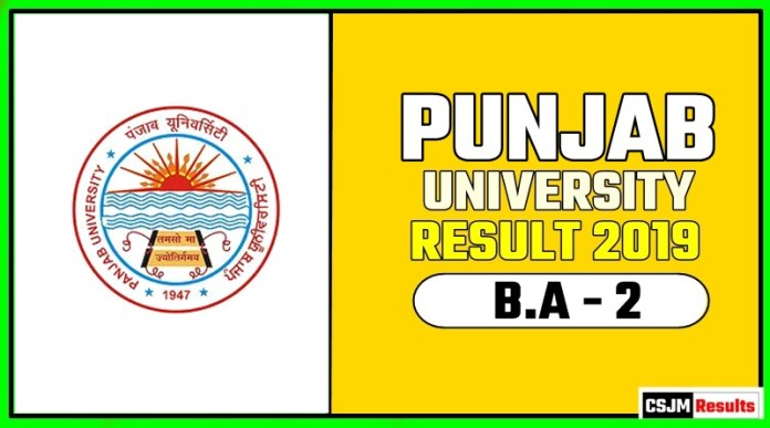 PUCHD BA 2nd Year Result 2019 Pujab University