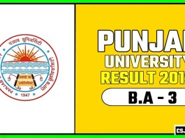 PUCHD BA 3rd Year Result 2019 Pujab University