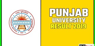 PUCHD BA BSC BCOM Year Result 2019 Pujab University