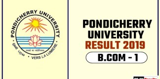 Pondicherry University BCOM 1st Year Result 2019