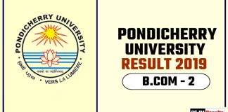 Pondicherry University BCOM 2nd Year Result 2019
