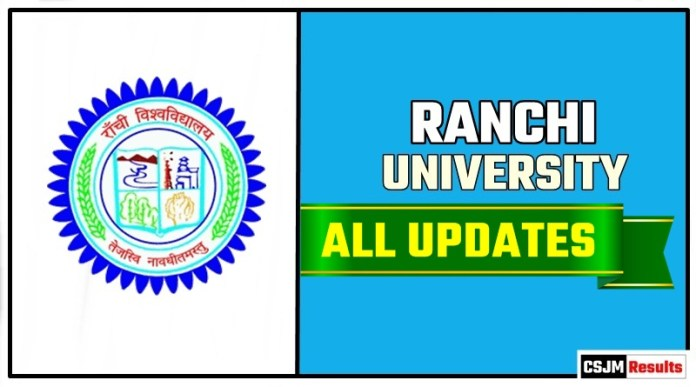Ranchi University Result Time Table Admit Card Admission