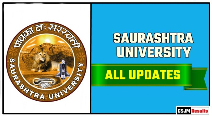 Saurashtra University Result Time Table Admit Card Admission
