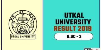 Utkal University BSC 2nd Year Result 2019
