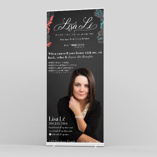 Lisa Le Properties Retractable Banner