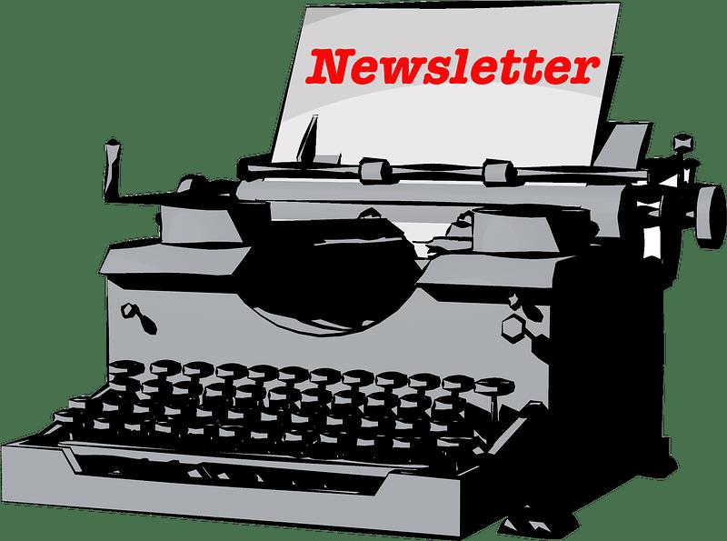 newsletter typewriter image