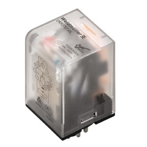 Industrial relay, 220 V DC, Green LED, 3 CO contact (AgNi) , 250 V AC, 10 A