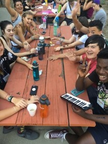 CSLDallass Center For Spiritual Living Joy Village Teens Camp Summer Table Hang Out