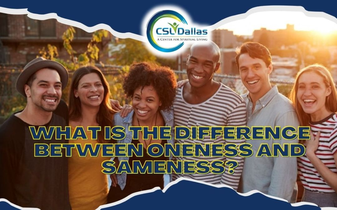 What is the difference between Oneness and Sameness?