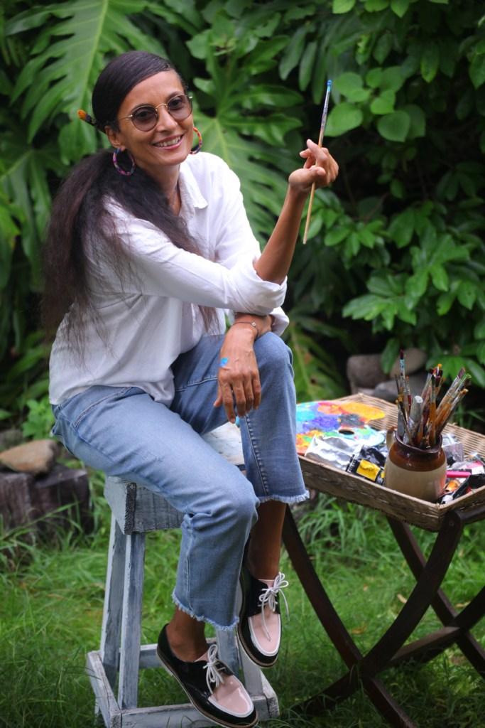 Agnès Djafri - peintre guadeloupéenne