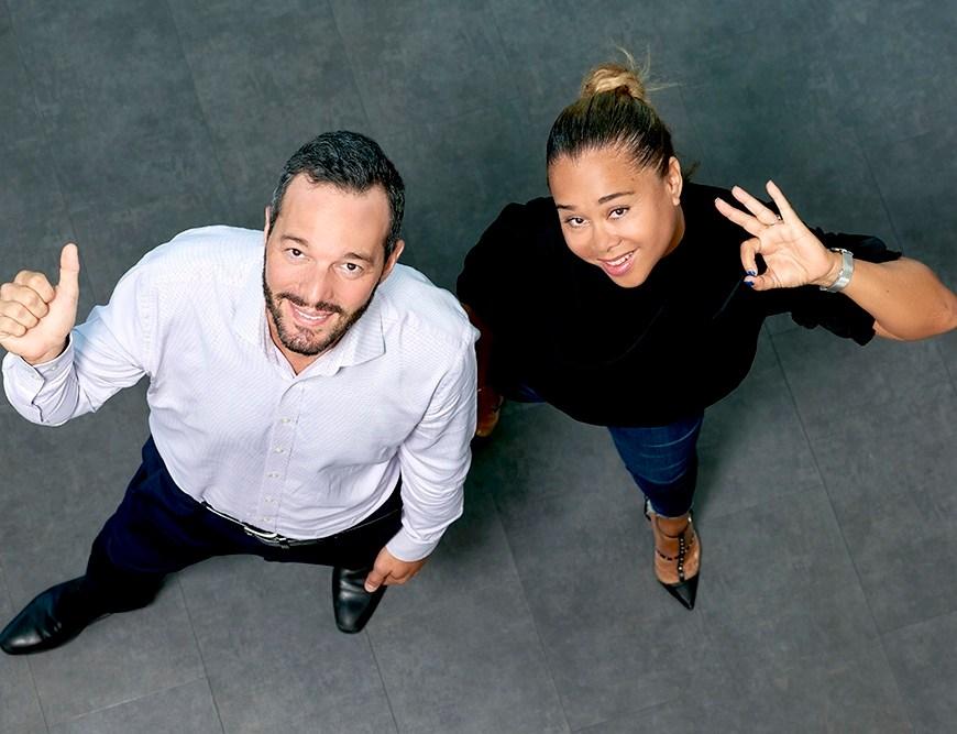 Adrien Bourreau, Directeur Général de CANAL+ Caraïbes et Michelle Grandjean, Directrice Communication et Productions Caraïbes
