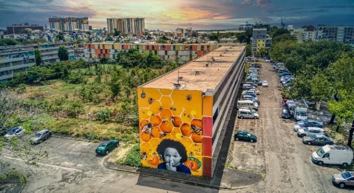Al Pacman - fresque logements sociaux