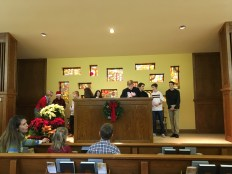 High school class leads our Christmas Sing
