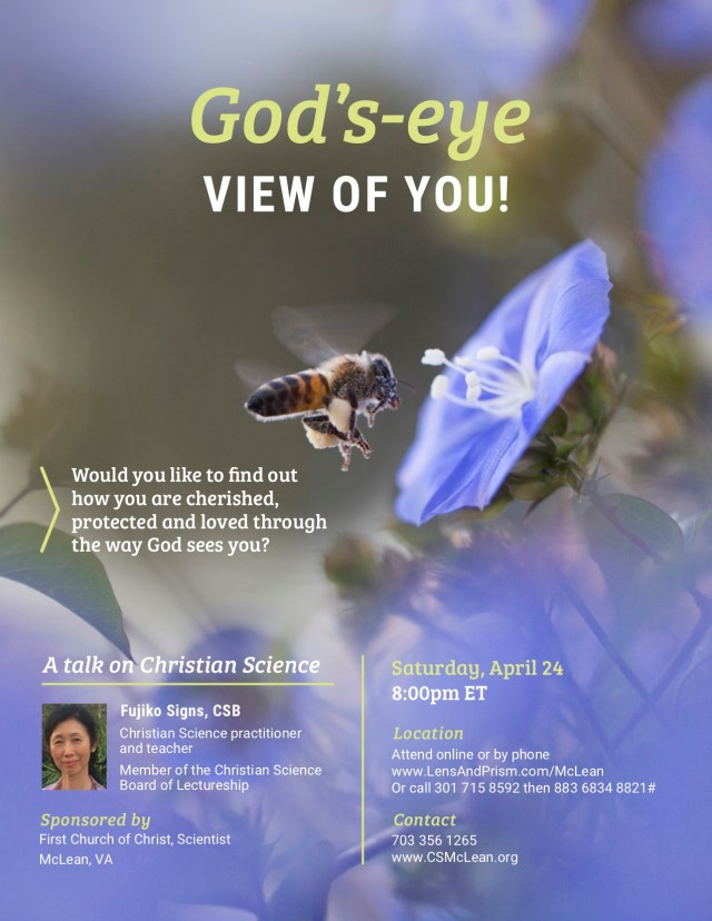 God's Eye View of You - Christian Science lecture
