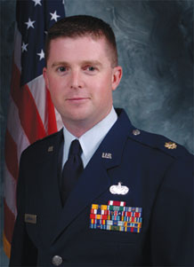 """Maj. Edward Liberman, 50th Civil Engineer Squadron Operations Flight commander, is the 14th Air Force Gen. Charles A. Horner """"Tiger"""" award recipient, officer category."""
