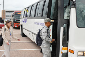 Colorado Springs has ceased the Schriever Express bus service effective Jan. 1, 2010. For more information regarding the bus service, please contact Alan Blumhagen, 50th Logistics Readiness Flight at 567-4713. (U.S. Air Force photo/Staff Sgt. Stacy Foster)