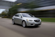 The 2011 Buick Regal has a smartly styled interior. The new four-cylinder model goes on sale in May. Photo courtesy of GM Co.