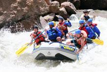 Schriever Airmen take on the white water of Colorado's Arkansas River near Royal Gorge in 2007. (Courtesy Photo)