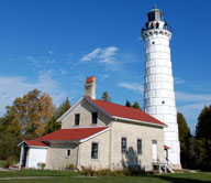 The Cana Island Lighthouse is one of 10 that dot the shoreline of Door County, Wis. Photo courtesy of Door County Visitor Bureau.