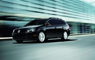 The diesel-powered Jetta SportWagen has style and functionality. The diesel provides cleaner air for the environment and a lower cost for gas.