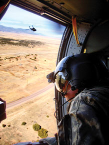 When a 1st Cavalry Division aviation unit came to Fort Carson for high-altitude training to prepare for its deployment to Afghanistan, it needed the assistance of ground troops to make training as realistic as possible.