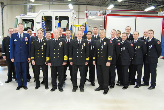 Cheyenne Mountain Firefighters Recognized For Valor Colorado Springs Military Newspaper Group