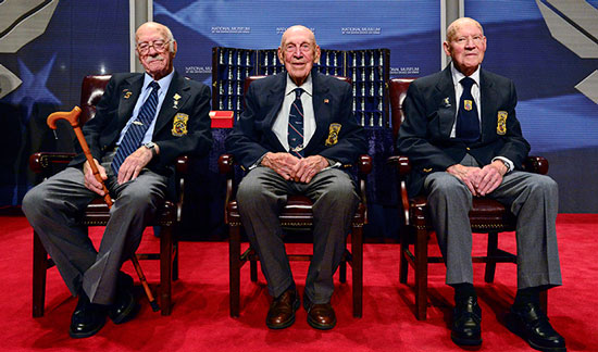 (U.S. Air Force photo/Desiree N. Palacios) The Doolittle Tokyo Raiders after sharing their last and final toast at the National Museum of the U.S. Air Force Nov. 09, 2013 in Dayton, Ohio.