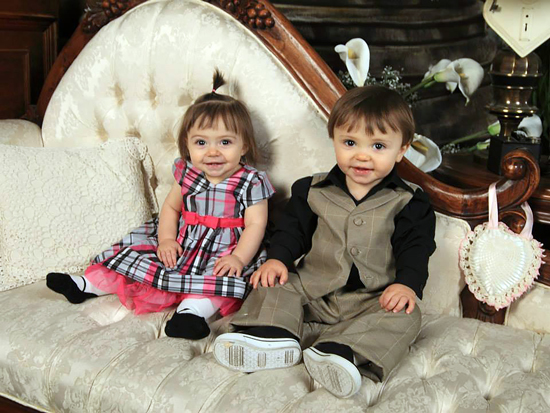 Courtesy photo Aria and Zander, Nicole Rogers' twins, were born in 2012 through the bond of two friends. Kim Harris, Missile Defense Agency physical security specialist and Rogers' friend, carried the twins for nine months as a surrogate mother.