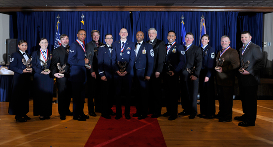 U.S. Air Force photo/Christopher DeWitt The 50th Space Wing honored its Airmen and civilian personnel during the Annual Awards Banquet Friday, 2013 at the Peterson Air Force Base club.