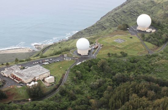 Courtesy photo The Kaena Point Satellite Tracking Station, controlled by the 21st Space Operations Squadron, Detachment 3, celebrated 55 years of space operations Feb. 26, 2014. The station is located on Kaena Point above Keawaula Bay, the westernmost spot on Oahu, Hawaii. It is part of the Air Force Satellite Control Network, which consists of antennas located at tracking stations around the world. The AFSCN supports Department of Defense, U.S. government and allied satellites and space vehicles whose missions include manned spaceflight, communications, reconnaissance, navigation, weather and early warning.