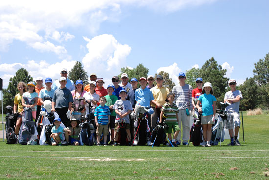 (U.S. Air Force photo/Michael Golembesky)  PETERSON AIR FORCE BASE, Colo. — Children of all ages attended the Silver Spruce Golf Academy this summer, where they spent a week on the greens learning the game. Instructors provided guidance and lessons on learning and improving their skills, from advance players with good swings to the very young beginners.