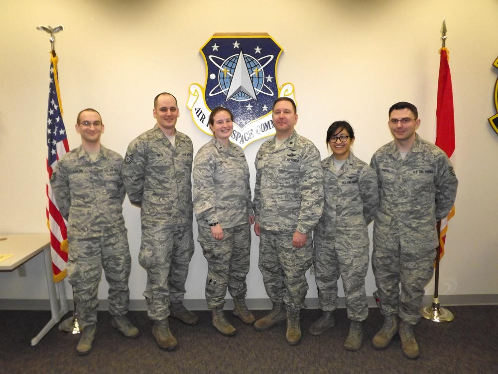 (courtesy photo) BEALE AIR FORCE BASE, Calif. – The first class from the Upgraded Early Warning Radar course graduated Feb. 11, 2016. The course is hosted by Detachment 4, 21st Operations Group at Beale.