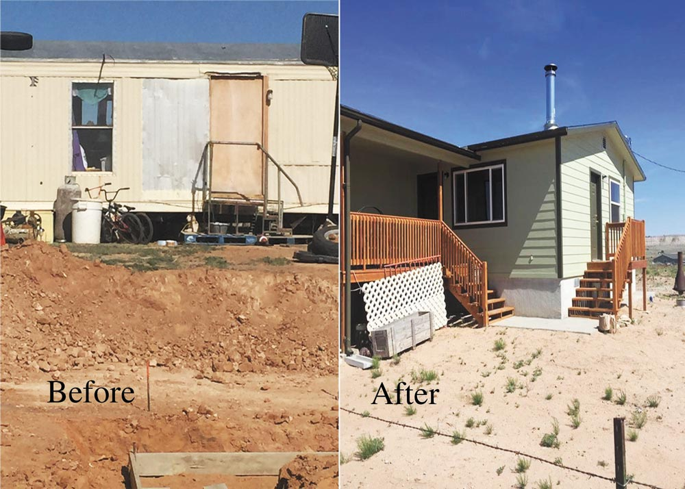 (U.S. Air Force photo illustration/Staff Sgt. Amber Sorsek) Gallup, N.M.  — As part of the Operation Footprint partnership, twenty-four Reservists from the 302nd Civil Engineer Squadron built new homes for the Navajo nation during Innovative Readiness Training, May 22 to June 5, 2016 in Gallup, N.M. The 302nd CES contributed to completing the construction of five new homes during their two-week training.