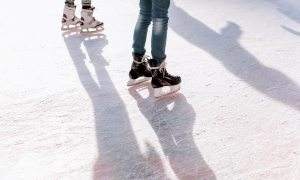 Downtown's Acacia Park offers ice skating throughout the holiday season. (Shutterstock)