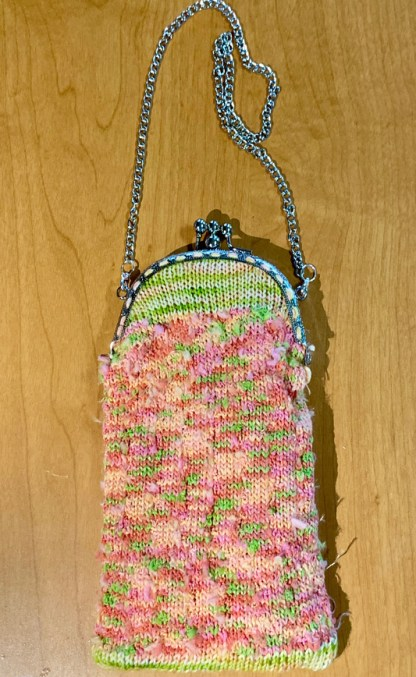 Myra Kness Double Clasp Purse with Textured Yarn 1