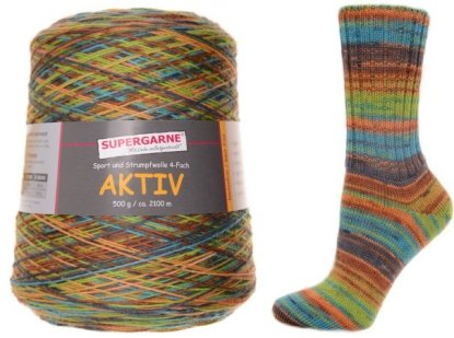 Aktiv Sock Yarn 500g Cone Color Highlands 1