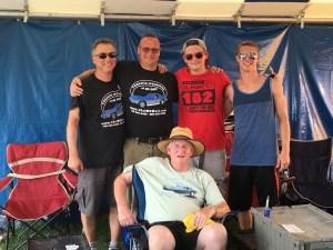Brian Tilles far left after a hard day at Corvettes @ Carlisle 2016.