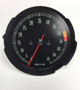 1965 1966 1967 Corvette Tachometer Assembly New Electronic Conversion Tach