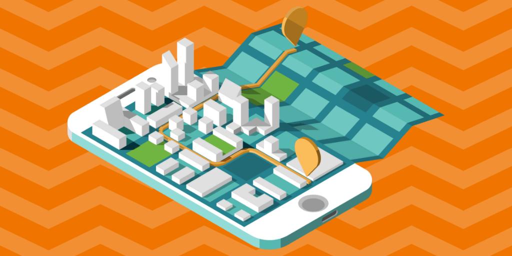 Waze Local Map Mockup