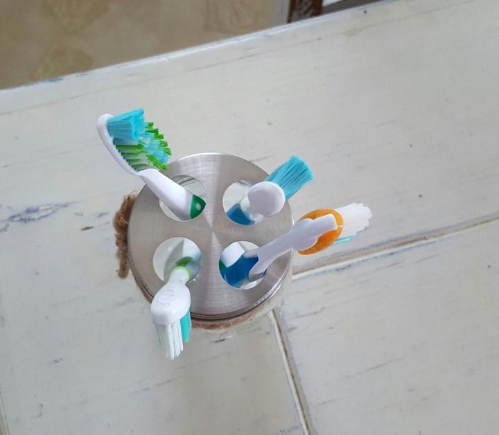 Mason Jar Toothbrush Holder 5