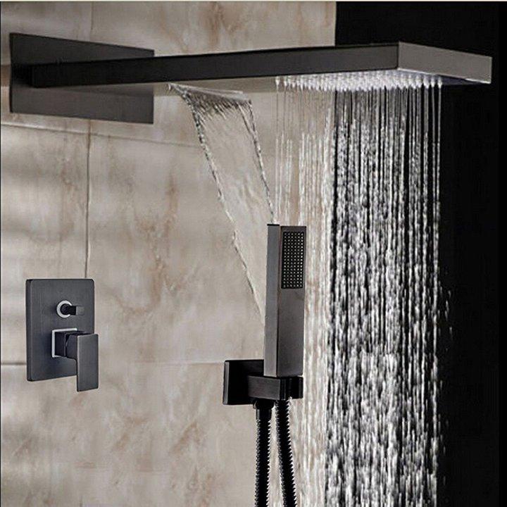 It\'s shower time. – Votamuta\'s Modern Oil Rubbed Bronze Square Rain ...