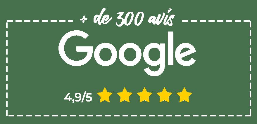 avis clients google 4,9 sur 5
