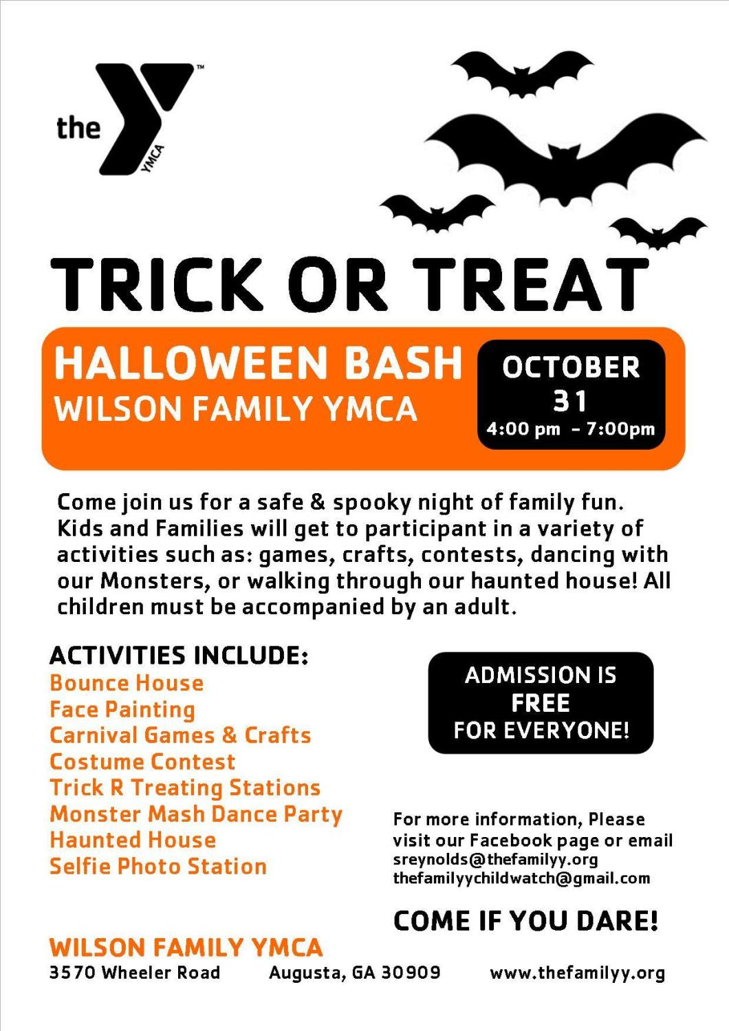 Halloween At The Y Bring Whole Family To Explore Spooky Hallways Dance With Our Monsters Create Fall Crafts Trick Or Treat And Plenty More
