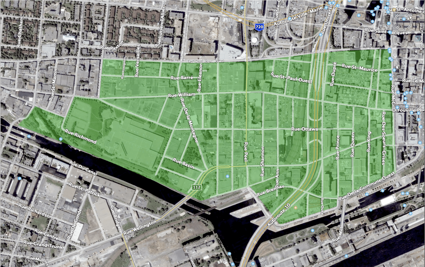 Traditional extent of Griffintown