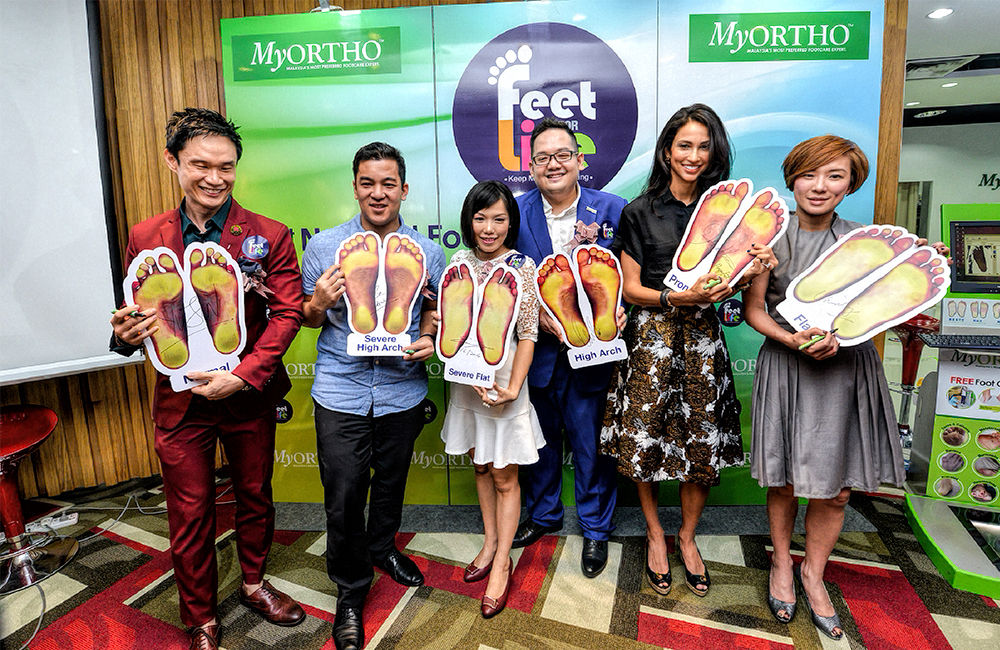 Celebrities supporting the CSR campaign Feet for Life to promote good foot health