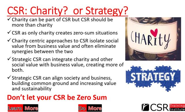 Charity or strategy?