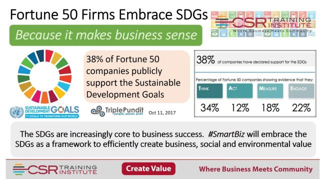 Fortune 50 firms embrace SDGs
