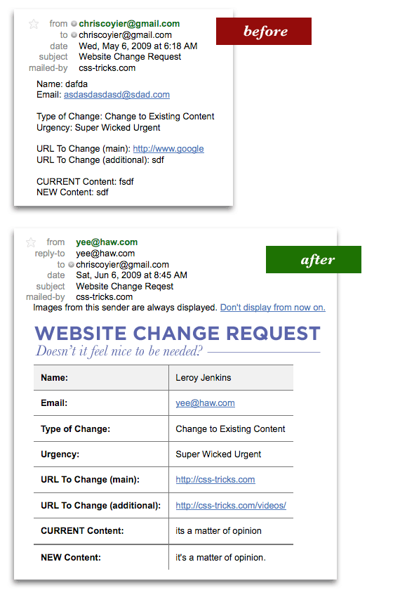 Please make the following change in your database. Sending Nice Html Email With Php Css Tricks