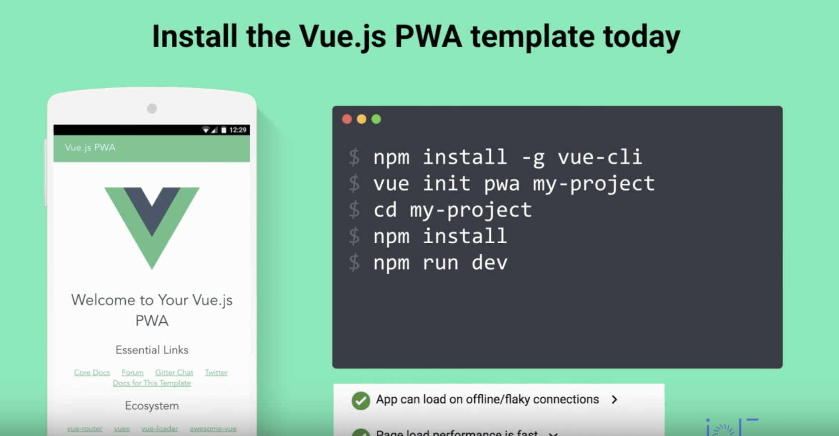 vue init pwa from within vue-cli