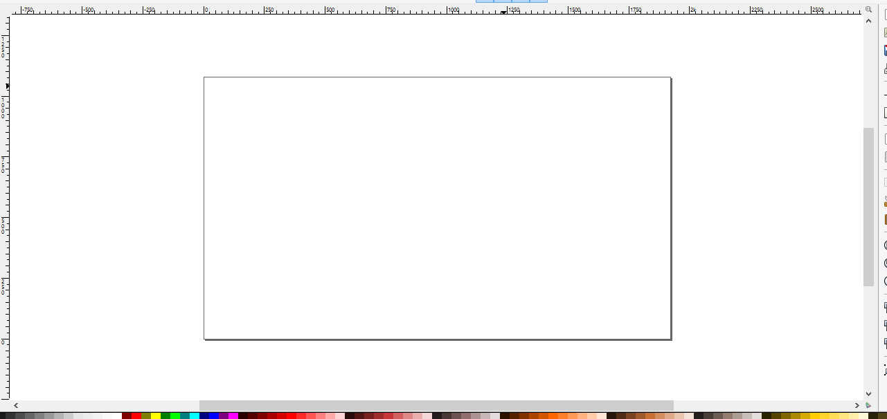 A screenshot of a blank canvas in the Inkscape editor.